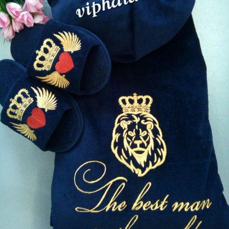 Мужской банный VIP комплект Крылатый лев
