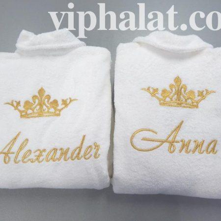 Махровые VIP халаты для королевской четы