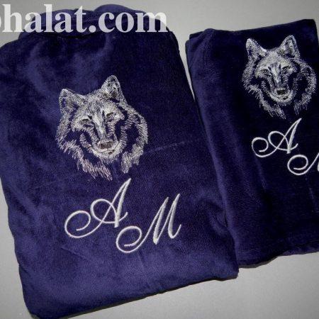 Стильный мужской комплект для бани Волк