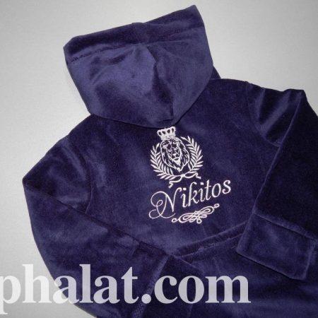 Детский махровый халат для мальчика Никита