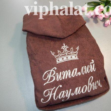 Мужской махровый халат Warm Taupe цвета
