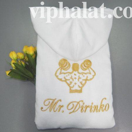 Мужской махровый VIP халат Бодибилдинг