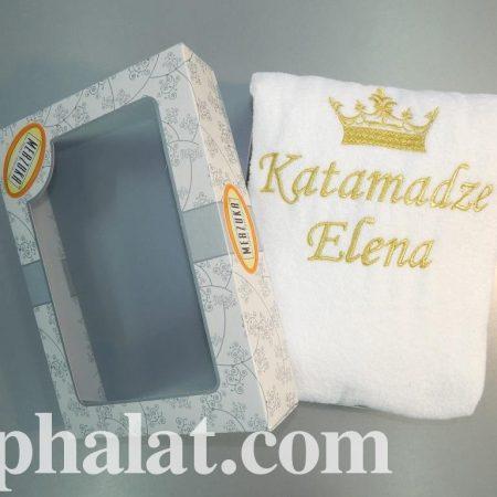 Кипенно-белое махровое полотенце Стиль