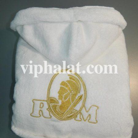 Домашний VIP халат с вышивкой Гладиатор