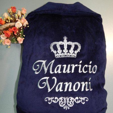 Домашний махровый халат с собственным именем Vanoni
