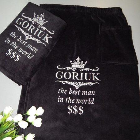 Мужской VIP комплект с шотландской банной юбкой