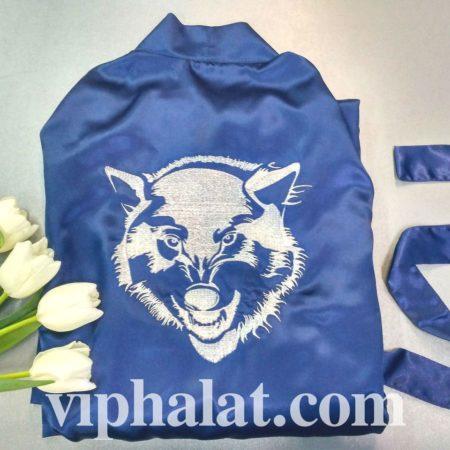 Эксклюзивный домашний VIP халат Атласный волк