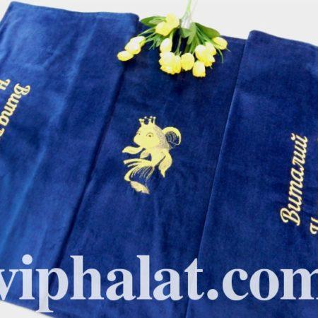 Банное махровое полотенце Золотая рыбка