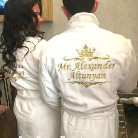 Эксклюзивные махровые халаты Семейная пара
