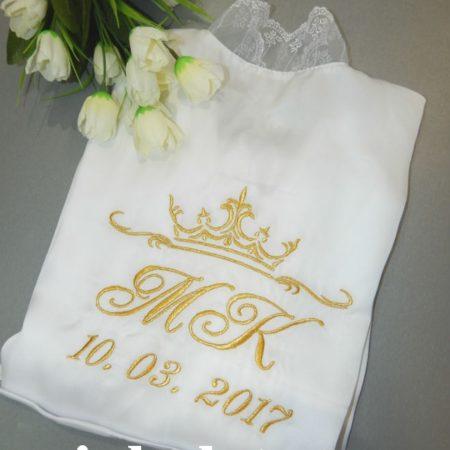 Свадебный атласный халатик для невесты Утро