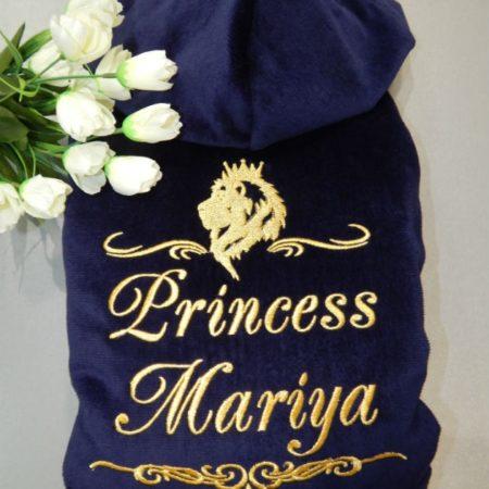 Женский махровый VIP халат Принцесса Мария