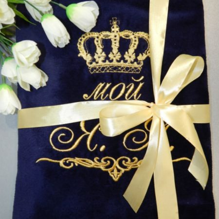Банное VIP полотенце Королевское
