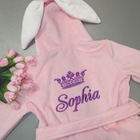 Детский VIP халат для девочки Царевна София
