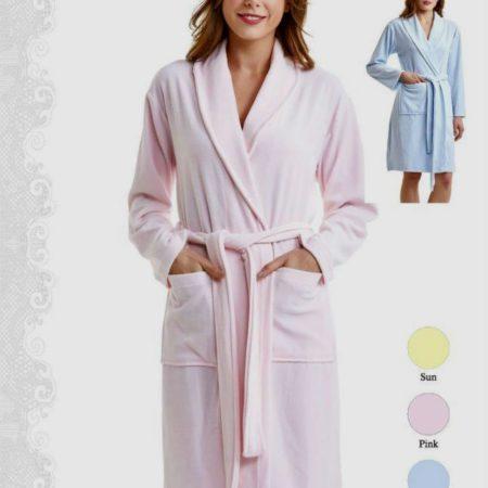 Женский велюровый халат Нежность