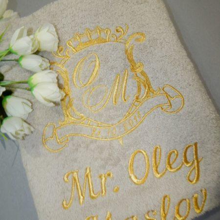 Банное махровое VIP полотенце Фамильный герб