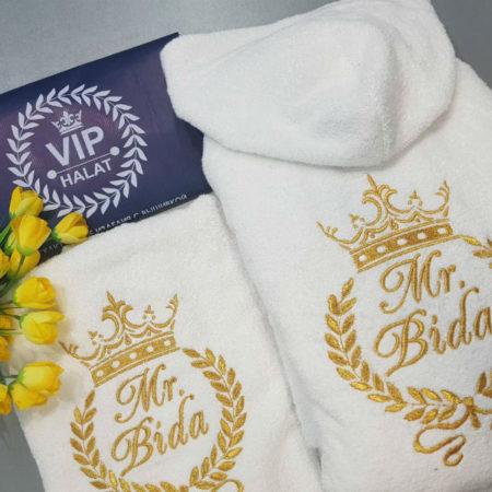 Мужской банный VIP набор с именной вышивкой Слава победителя