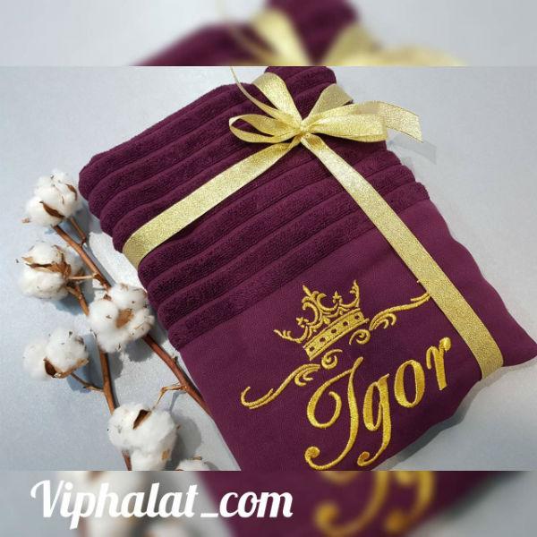 Банное VIP полотенце Королевский текстиль