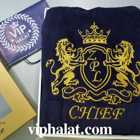 Банное махровое VIP полотенце CHIEF