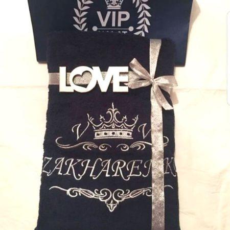 Банное махровое VIP полотенце ШИК