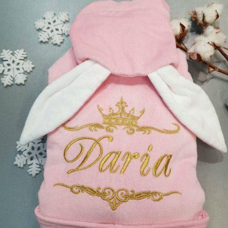 Детский VIP халат Принцесса зайчиков Дарья
