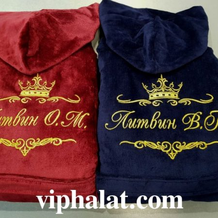 Парные VIP халаты Роскошные золотые короны