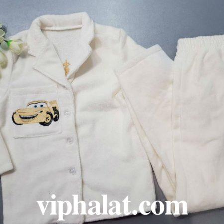 Детская махровая VIP пижама Весёлая машинка