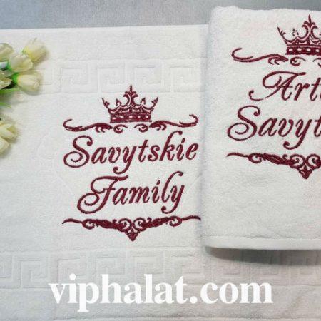 Банный VIP набор для ванной с ковриком