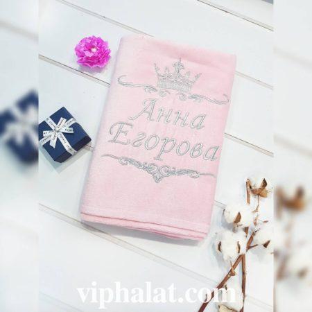 Банное махровое VIP полотенце Аннушка