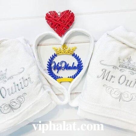 Эксклюзивный махровый VIP набор для пары Бумажная свадьба
