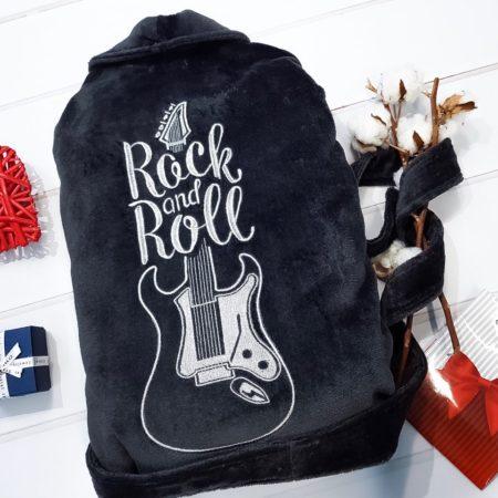 Мужской махровый халат Rock and Roll