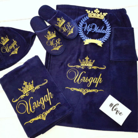 Банный мужской VIP набор Король Ильдар