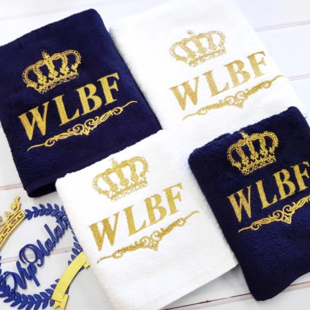 Фирменные банные VIP полотенца WLBF