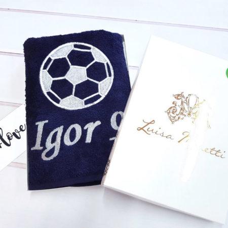 Банное махровое VIP полотенце Футбол