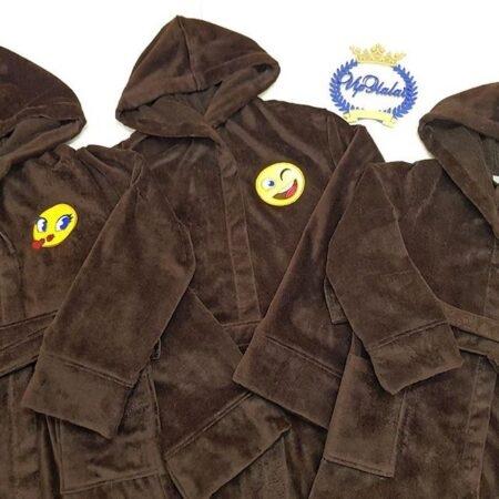 Махровое трио VIP халатов Семейная улыбка