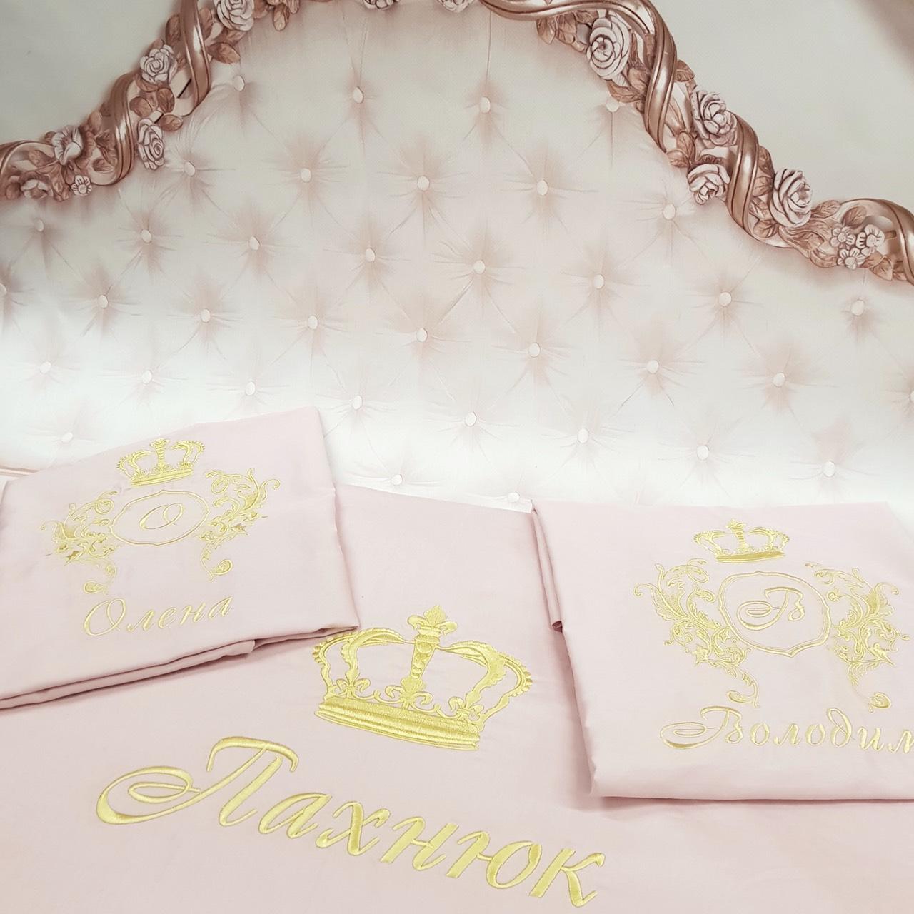 Подарочное постельное VIP бельё Царский вензель