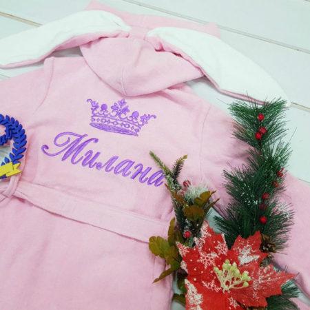 Детский VIP халат для девочки Миленка