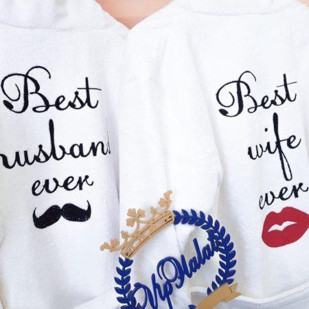 Парные VIP халаты Лучшие муж и жена