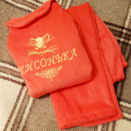 Детская махровая VIP пижама Кисонька