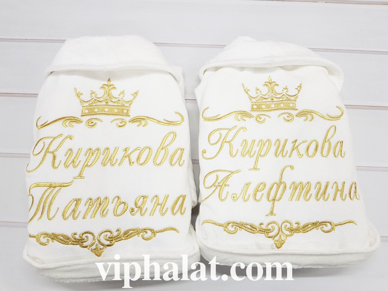 Парные махровые VIP халаты Родные сёстры