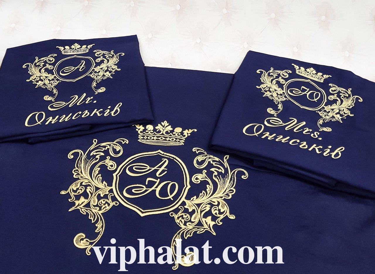Постельное сатиновое VIP бельё Фамильный герб