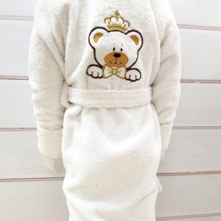 Детский бамбуковый VIP халат Принц Мишка