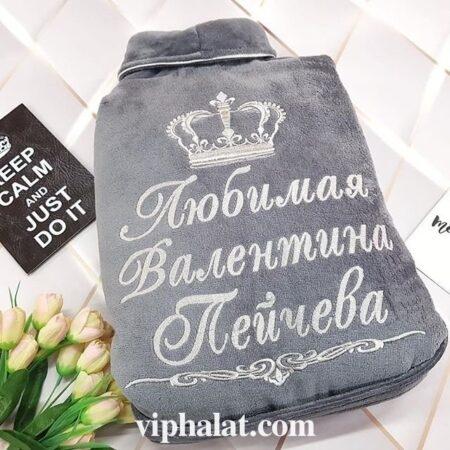 Женский махровый VIP халат Серебристые сумерки