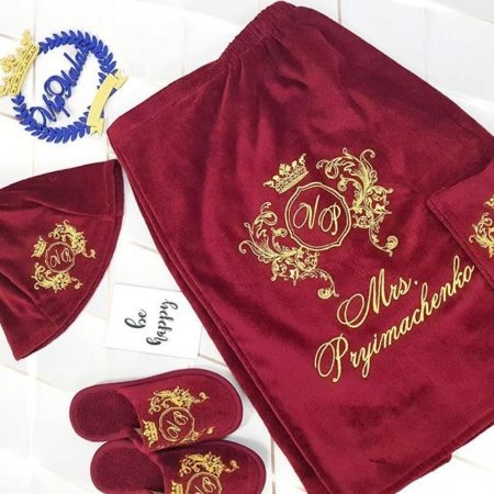 Женский банный VIP набор Монограмма принцессы