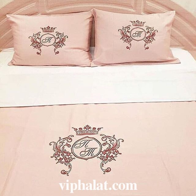 Постельный VIP комплект Розовый персик
