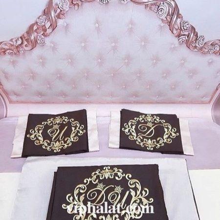 Свадебный постельный VIP комплект Принц и принцесса