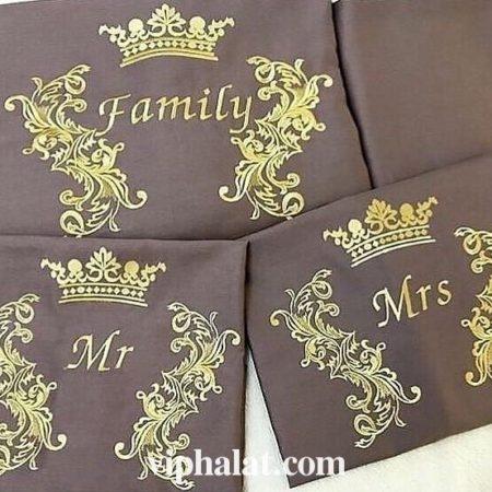Постельный VIP комплект из сатина Family