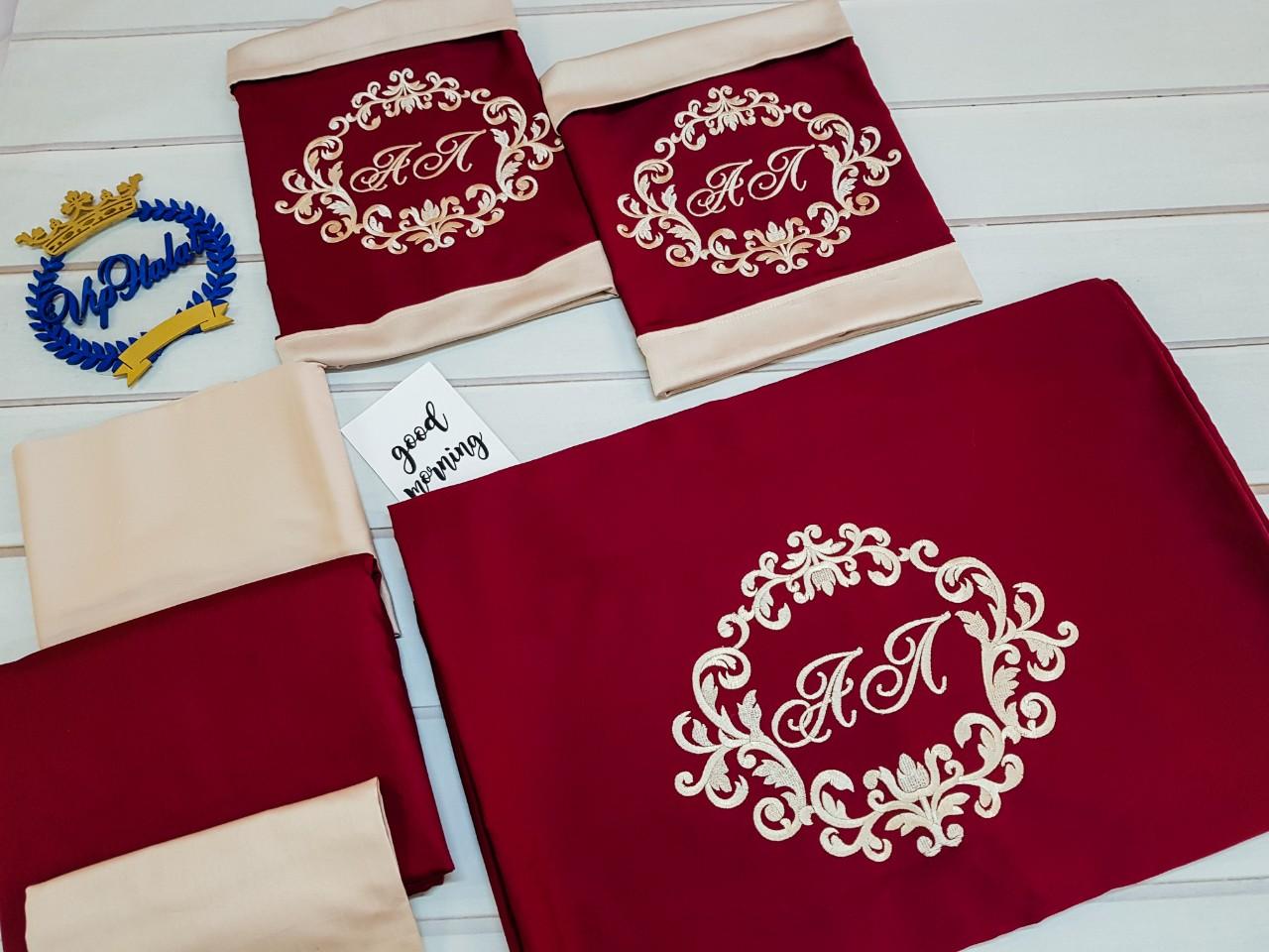 Постельный комплект из сатина Красное золото