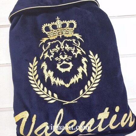 Мужской махровый VIP халат Лавровый венок короля