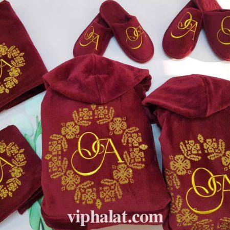Махровый VIP набор для пары Украинские узоры
