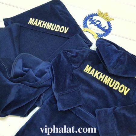 Детский VIP халат и полотенце-уголок Малыш